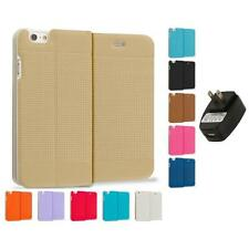 For iPhone 6 Plus 5.5 Slim Wallet Dots Hard Flip Case Cover Wall Charger