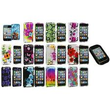 Flower Design Hard Case Cover Accessory+Sticky Pad for iPod Touch 4th Gen 4G 4