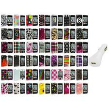 Color Design Hard Snap-On Case Cover+White Charger for iPod Touch 4th Gen 4G