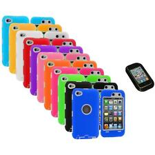 Deluxe Hybrid Case Cover+Protector+Sticky Pad for iPod Touch 4th Gen 4G 4