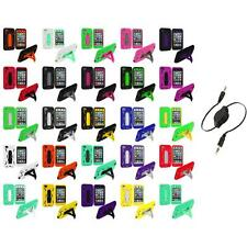 For iPod Touch 4th Gen 4G Hybrid Heavy Duty Rugged Case Cover Aux Cable