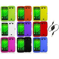 Color Hard Rubberized Case Cover+Aux Cable for Blackberry Torch 9850 9860