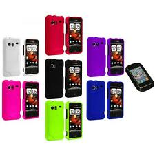 Color Hard Rubberized Case Cover+Sticky Pad for HTC Droid Incredible 6300