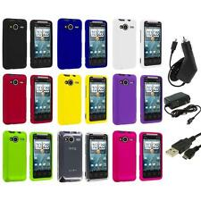 Color Hard Snap-On Case Cover+3X Chargers for HTC EVO Shift 4G Phone Accessory