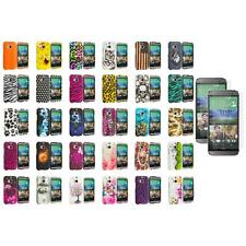 For HTC One 2 M8 Hard Design Case Cover 2X Screen Protector
