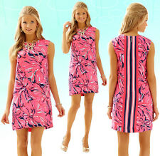 $198 Lilly Pulitzer Iona Bright Navy Flirty Engineered Shift Dress