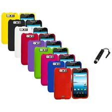 For LG Viper / Connect 4G Hard Matte Snap-On Case Cover Stylus Plug