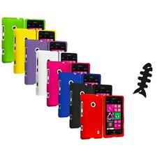 For Nokia Lumia 521 Snap-On Hard Rubberized Matte Case Cover Cable Wrap