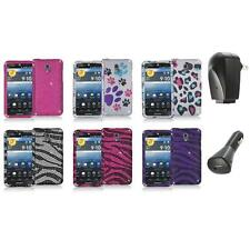 Color Bling Diamond Rhinestone Case Cover+2X Chargers for Pantech Discover P9090