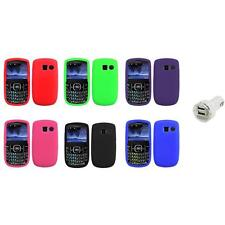 Color Silicone Rubber Gel Case Cover+Dual Charger for Pantech Link II 2 P5000