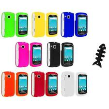 Color Hard Snap-On Skin Case Cover+Cable Wrap for Samsung Doubletime I857 Phone