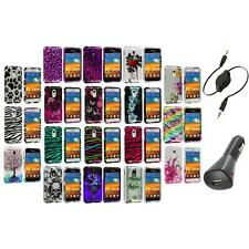 Design Hard Case Cover+Aux+Charger for Samsung Epic Touch 4G Sprint Galaxy S2