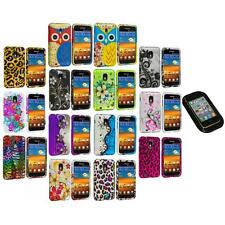 Design Hard Rubberized Case Cover+Sticky Pad for Samsung Sprint Galaxy S2 S II