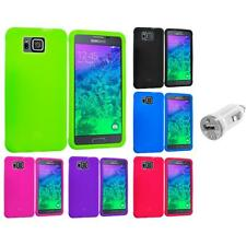 For Samsung Galaxy Alpha Silicone Soft Skin Case Cover Accessory USB Charger