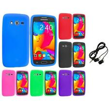 For Samsung Galaxy Avant G386 Silicone Rubber Case Cover Headphones