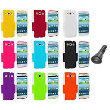 Hybrid Mesh Hard/Soft 2-Piece Case Cover+Car Charger for Samsung Galaxy S3 S III