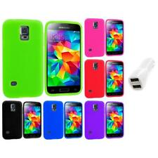For Samsung Galaxy S5 Mini Silicone Case Cover Accessory Car Charger