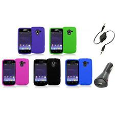Color Silicone Rubber Gel Soft Skin Case Cover+Aux+Charger for ZTE Avid 4G N9120