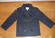 Boys The CHILDREN'S PLACE Wool PEACOAT Coat Jacket Size 5/6 7/8 Charcoal Gray