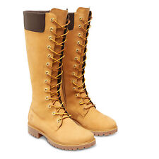 Timberland long lace knee 83982 wheat Ladies Calf Boots waterproof RRP £180