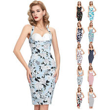 Vintage 50s Retro Cotton Pinup Housewife Cocktail Prom Party Dresses