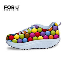 Women Lady Candy Fruit Fitness High Platform Creeper Wedge Sneaker Shoes Casual