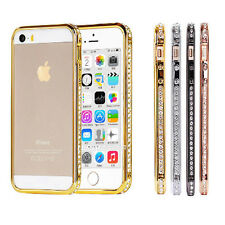 Luxury Diamond Rhinestone Metal Frame Bumper Case Cover for iPhone 5 5S 4 4S NS