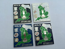 Derby 2015/16 September Away v Reading Preston North End MK Dons Pin Badge