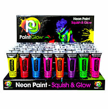 6x Tubes UV Face and Body Paint - PaintGlow 10ml Body Paint UV Neon Festivals