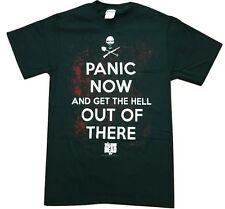 The Walking Dead Panic Now And Get The Hell Out Of There MEN'S T-Shirt BLACK