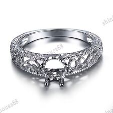 Semi Mount Round 5-6mm/7.5-8mm/9-10mm/11-12mm Sterling Silver 925 Ring Setting