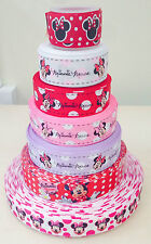 1M  MINNIE MOUSE ORIGINAL STYLE  GROSGRAIN RIBBON   25mm/22mm  UK STOCK