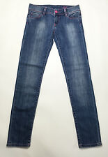 Womens Girls Jfour Beatrice Jeans Slim Skinny Leg Low Rise Faded Distressed NEW