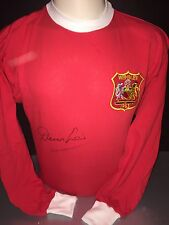 Signed Manchester United Home Shirt By Denis Law Retro 1963