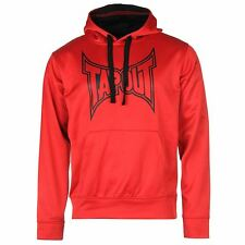 Tapout Logo Pullover Hoody Mens Red Hooded Sweater Sweatshirt Jumper