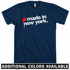 Made in New York T-shirt - City NYC Bronx Brooklyn Queens Manhattan NY Men S-4XL