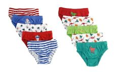 5 Pairs Of Kids Boys Girls Briefs, 100% Cotton Underwear Pants,  Age 2-8 Years