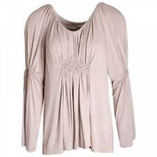Gustav Designer Jersey Long Sleeve Pleat Ruched Embroidery Detail Tunic Top