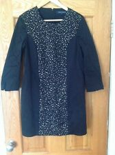 french connection fitted tunic sequin dress size 14