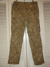 Men's True Religion Special OPS Print  Cargo Pants Khaki Multi-Color NWT 34 x 32