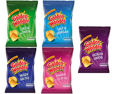 32 PACK GOLDEN WONDER CRISPS 5 FLAVOURS CHOICE CASE BOX BIRTHDAY PARTY SNACKS
