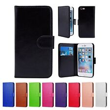 PU LEATHER WALLET CASE COVER FOR Apple iPhone 6s (2015) + FREE  SCREEN PROTECTOR