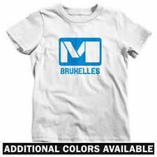 Brussels Metro Kids T-shirt - Baby Toddler Youth Tee - Belgium Subway Bruxelles