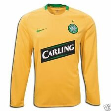 Nike Celtic FC 2008 - 2009 Long Sleeve Away Soccer Jersey New Yellow / Green