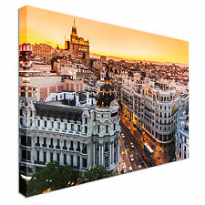 Madrid City Sunset Canvas wall Art prints high quality great value