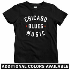 Chicago Blues Music Kids T-shirt - Baby Toddler Youth Tee - Buddy Guy Gift Fest