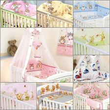 BEDDING SET COT &COT BED 3 PCS,4, 6, 9, COT TIDY, DUVET,BUMPER CANOPY-100%COTTON