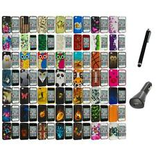 Design Hard Rubberized Color Snap-On Case Cover+Charger+Pen for iPhone 4 4S 4G