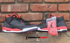 NIKE AIR JORDAN 3 RETRO CRIMSON SZ 3.5,4,4.5,5, 5.5,6 True Blue 398614 005