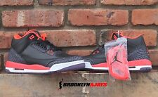 NIKE AIR JORDAN 3 III RETRO BLACK CEMENT CRIMSON  398614 005 4 4.5 5 5.5 6 GS